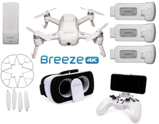 Yuneec Breeze 4K drone with FPV & Controller Kit + 2x additional battery