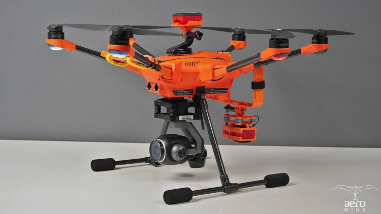Dedicated mounting PARROT SEQUOIA+ for Yuneec H520 Drone