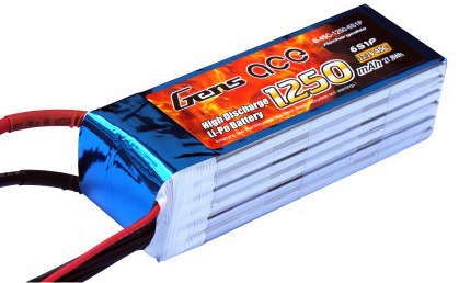 Battery Gens Ace 1250mAh 22.2V 45C 6S1P