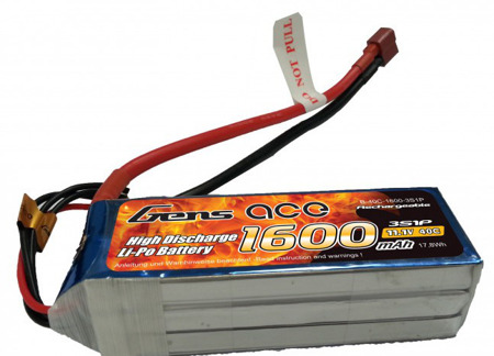 Gens Ace 1600mAh 11.1V 40C 3S1P battery