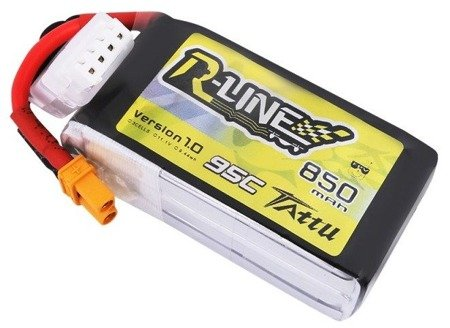 Tattu R-Line 850mAh 11.1V 75C 3S1P XT30 Battery