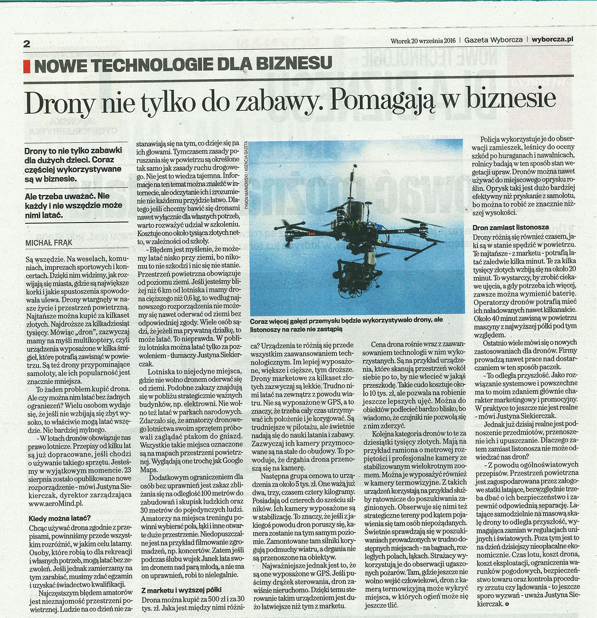 Drony nie tylko do zabawy. Pomagają w biznesie